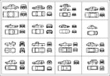 Free Automobile Blocks 2 - CAD Design | Download CAD Drawings | AutoCAD Blocks | AutoCAD Symbols | CAD Drawings | Architecture Details│Landscape Details | See more about AutoCAD, Cad Drawing and Architecture Details