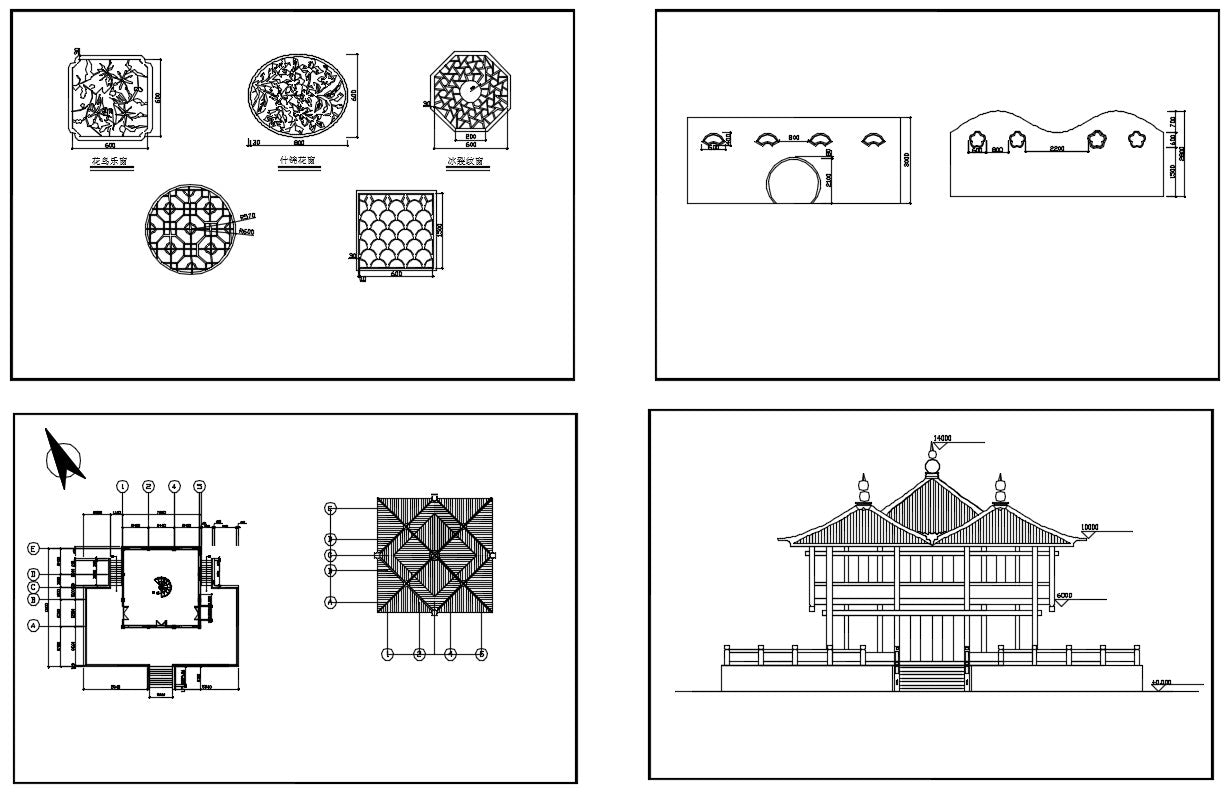 Chinese Architecture CAD Drawings 3