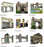 【Sketchup 3D Models】10 Types of European Entrance & Door 3D Models V.1 - CAD Design | Download CAD Drawings | AutoCAD Blocks | AutoCAD Symbols | CAD Drawings | Architecture Details│Landscape Details | See more about AutoCAD, Cad Drawing and Architecture Details