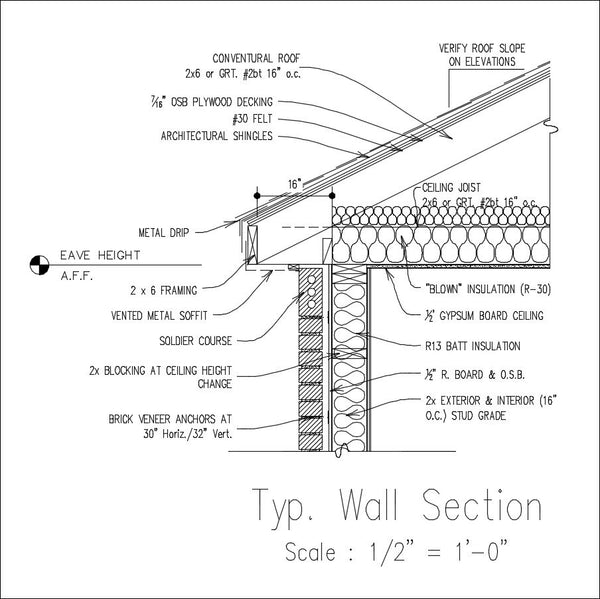 【CAD Details Collection-Wall Footing Section】 -Download