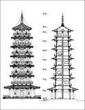 Chinese Architecture - CAD Design | Download CAD Drawings | AutoCAD Blocks | AutoCAD Symbols | CAD Drawings | Architecture Details│Landscape Details | See more about AutoCAD, Cad Drawing and Architecture Details