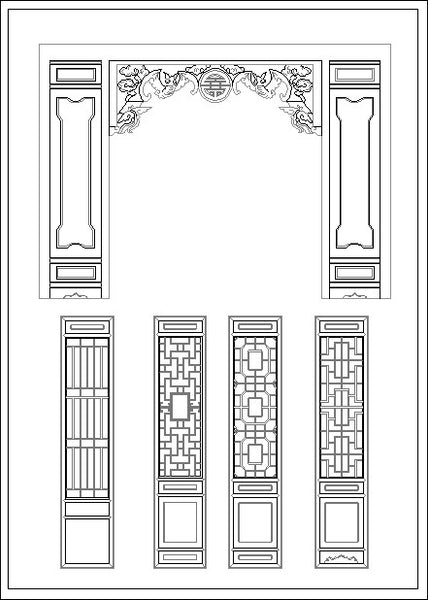 Chinese Window Lattice Drawing Cad Design Free Cad