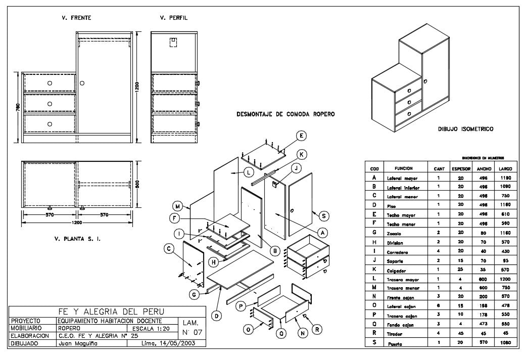 Drawer sectional detail AutoCAD Dwg files. This drawing to help to carpenter to make drawers and cabinet.