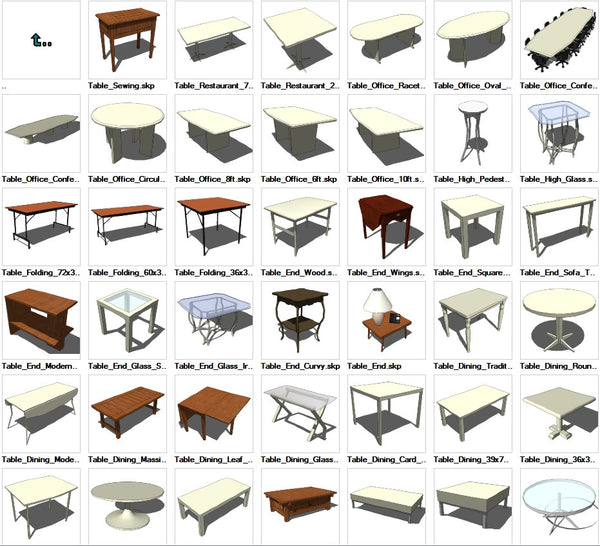 Sketchup Table 3D models download