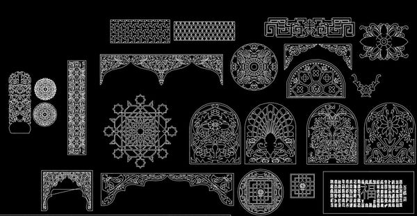Wood Texture For Elevation : Chinese carved cad design free blocks drawings