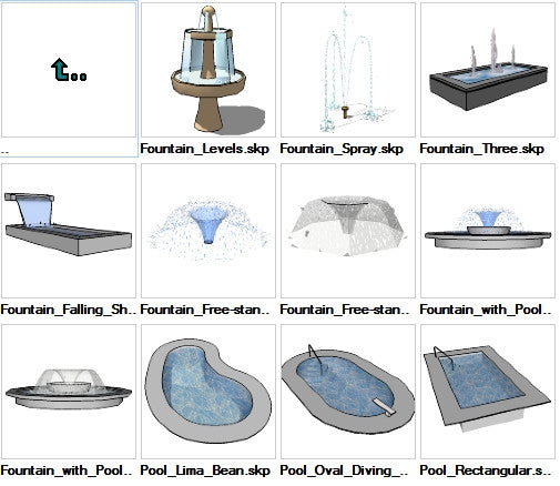 Sketchup Water Features 3D models download - CAD Design | Download CAD Drawings | AutoCAD Blocks | AutoCAD Symbols | CAD Drawings | Architecture Details│Landscape Details | See more about AutoCAD, Cad Drawing and Architecture Details