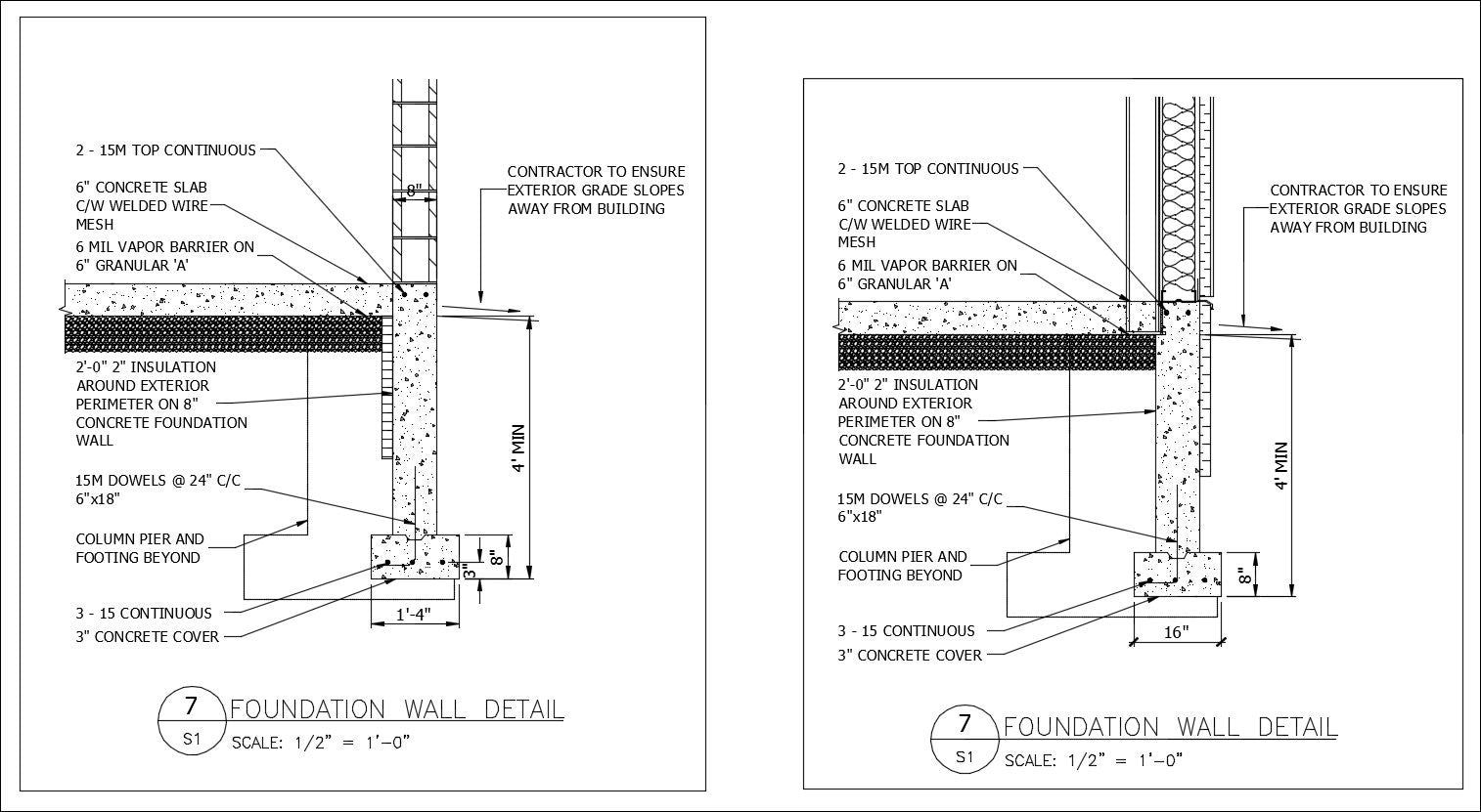 Free cad details foundation wall detail cad design free cad blocks drawings details for Foundations of interior design