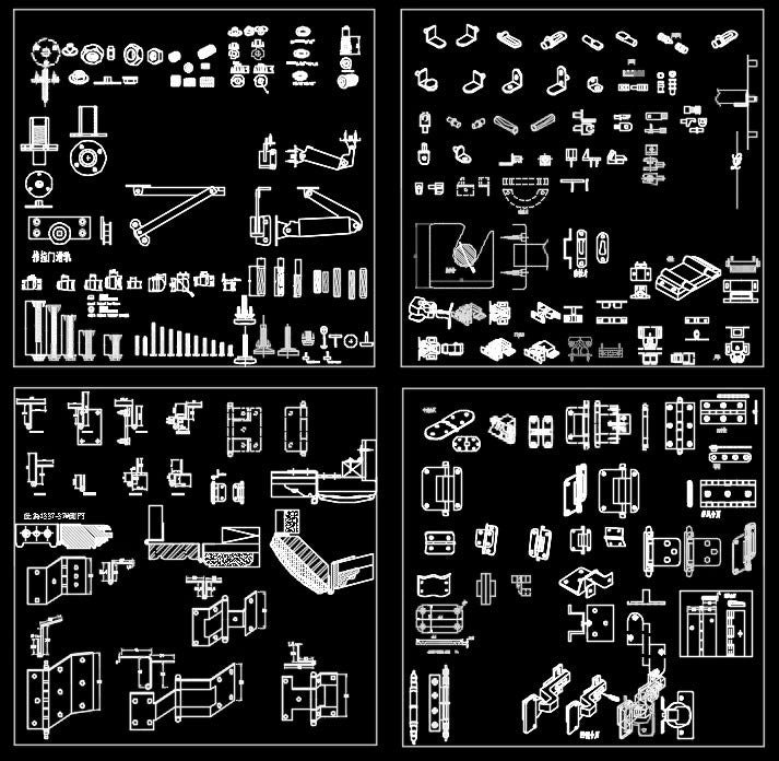 Over 2000 Hardware Accessories CAD Blocks-Home Hardware Accessories,Accessories, Parts & Hardware