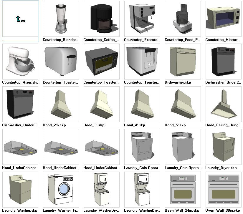 Sketchup Appliances 3D Models Download – CAD Design