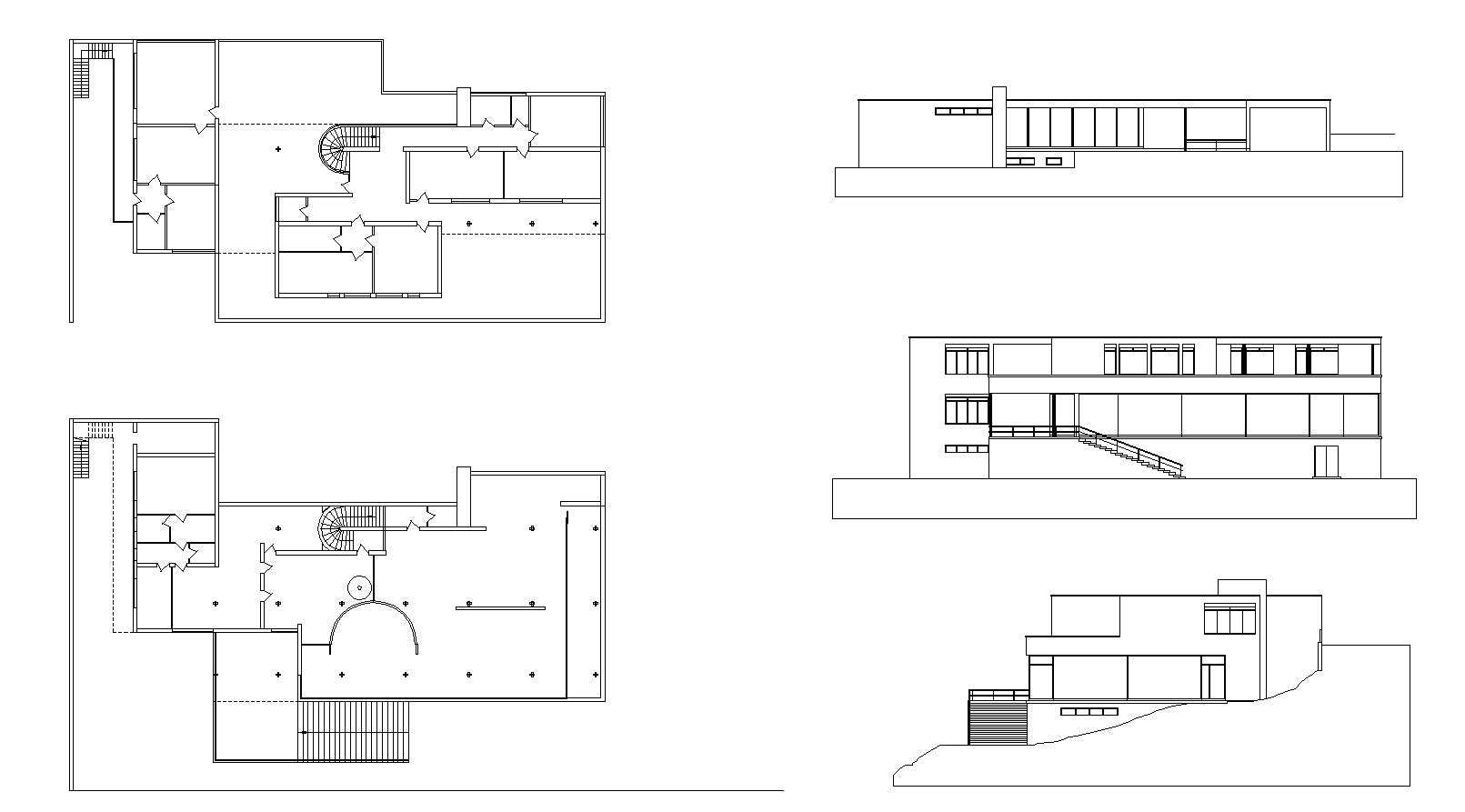 Villa Tugendhat tugendhat villa ludwig mies der rohe cad design free cad
