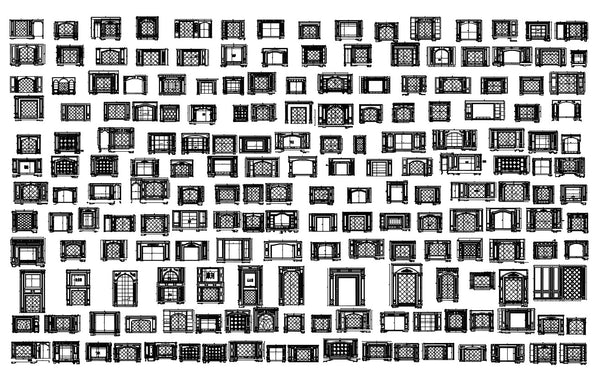 188 Types of TV Wall Design CAD Drawings-Living Room,Bedroom Design
