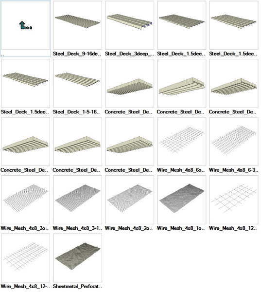 Sketchup Steel Deck 3D models download