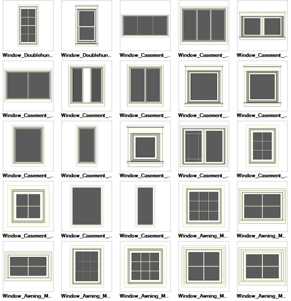 Sketchup windows 3d models download cad design free for Window 3d model
