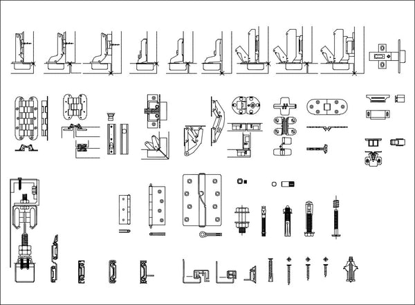 all interior design hardware cad blocks  u2013 cad design
