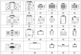 Kitchen Cad Blocks Set - CAD Design | Download CAD Drawings | AutoCAD Blocks | AutoCAD Symbols | CAD Drawings | Architecture Details│Landscape Details | See more about AutoCAD, Cad Drawing and Architecture Details
