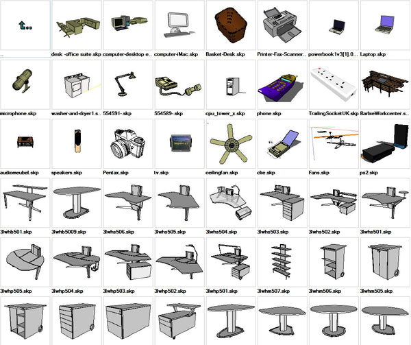 Sketchup Office 3D models download
