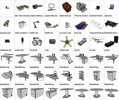 ●Sketchup Office 3D models