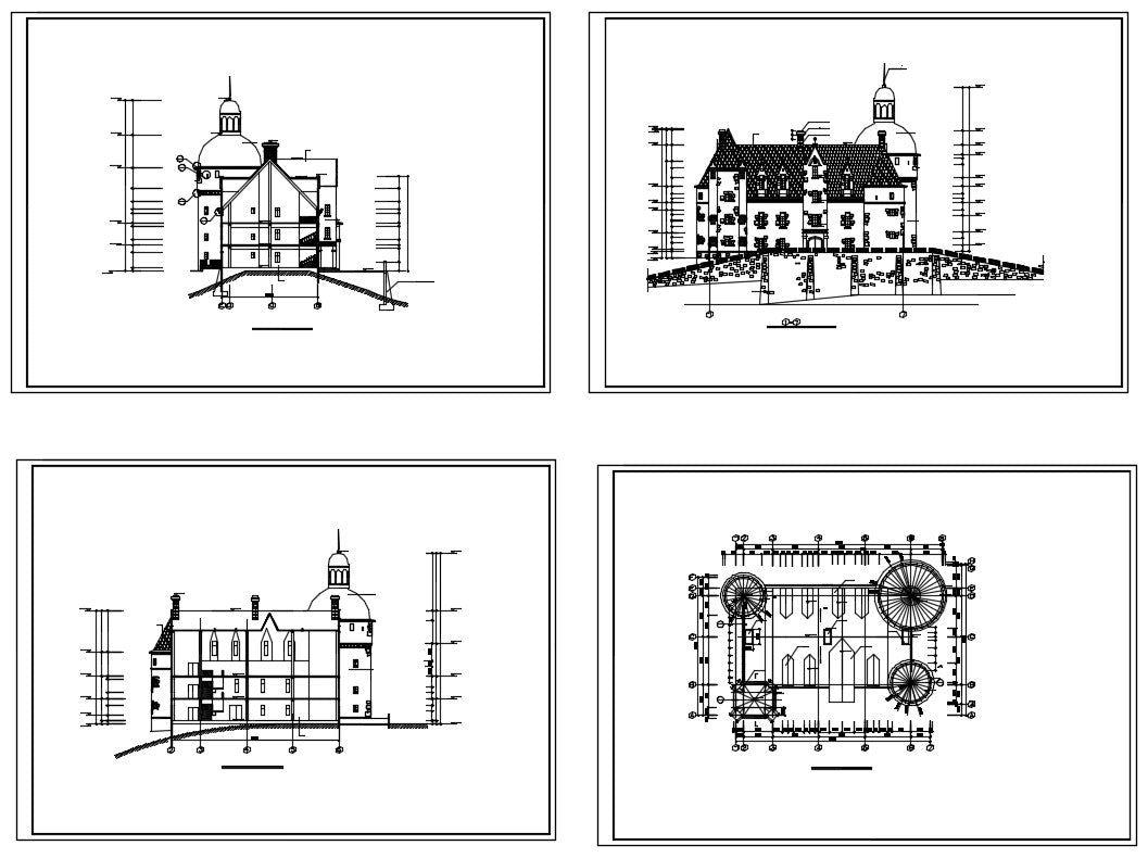 Castle Cad Drawings--Plans,elevation,details