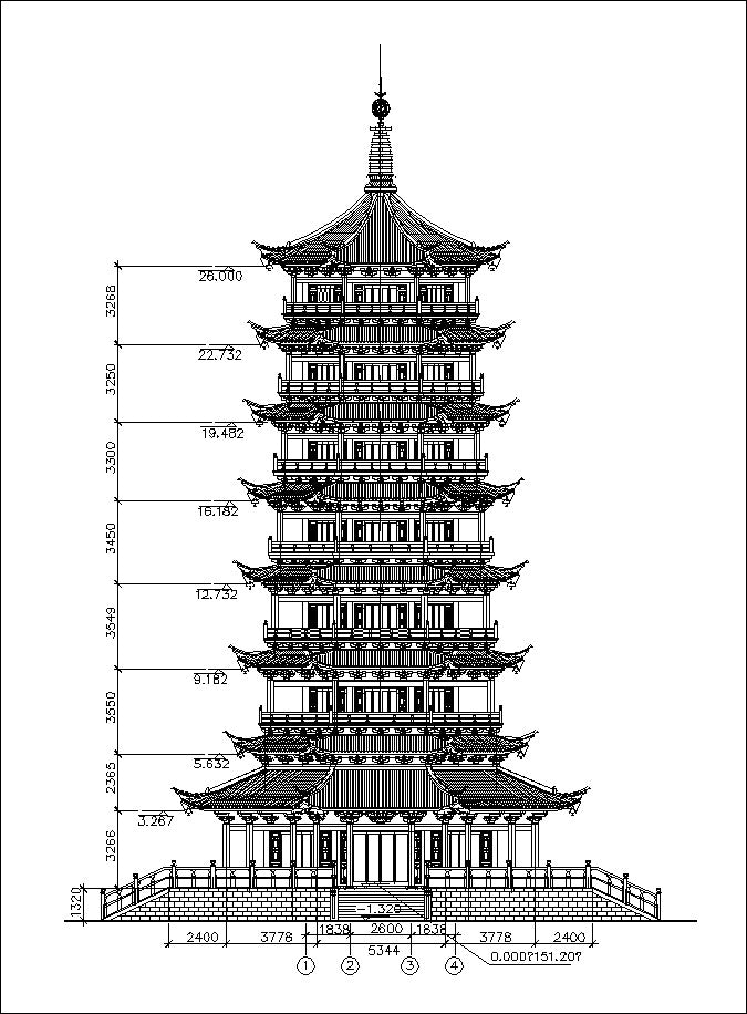 chinese architecture  u2013 cad design
