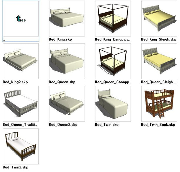 Sketchup Bed 3D models download