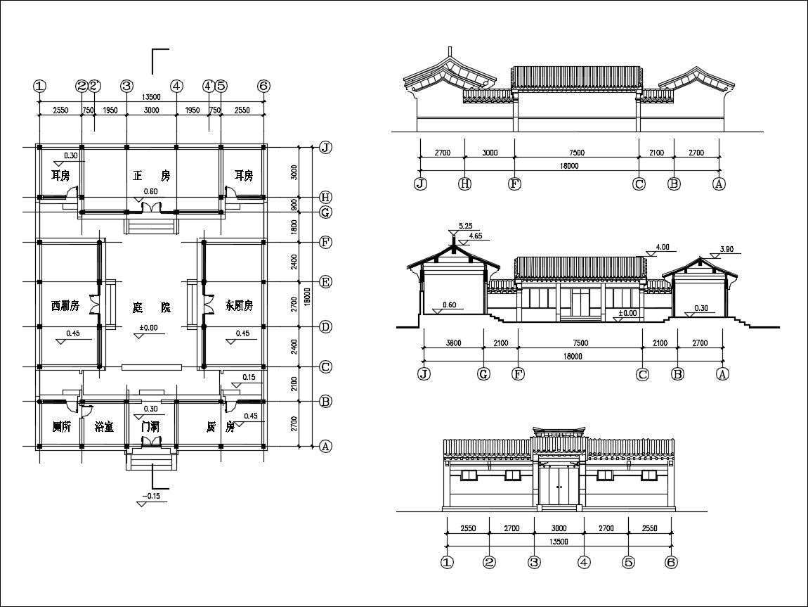 Chinese Architecture CAD Drawing-Chinese Courtyard