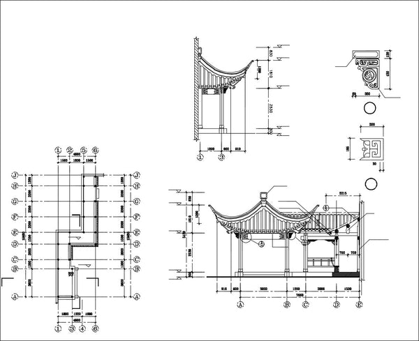 Chinese Architecture Cad Drawings Chinese Pavilion Garden