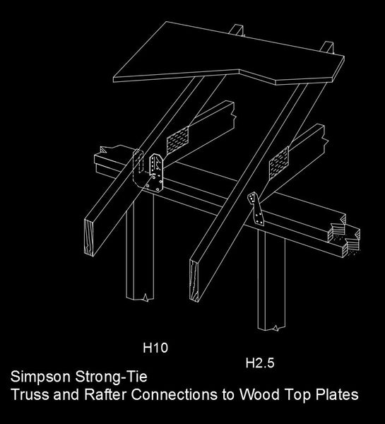 Free Cad Details Truss Amp Rafter Connections Iso Cad