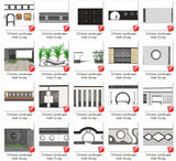 Chinese Landscape Wall Design-Sketchup Models(Best Recommanded!!) - CAD Design | Download CAD Drawings | AutoCAD Blocks | AutoCAD Symbols | CAD Drawings | Architecture Details│Landscape Details | See more about AutoCAD, Cad Drawing and Architecture Details