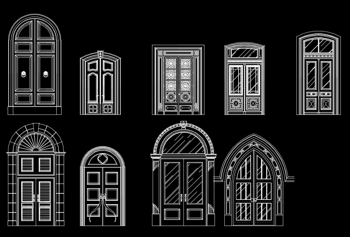 70 types of best door design ideas cad design free cad for Door design autocad