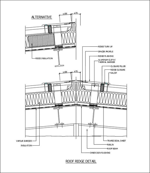 Free CAD Details-Roof Ridge Detail – CAD Design