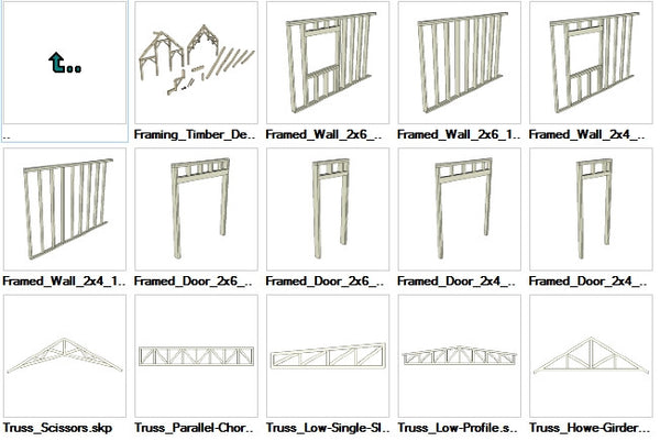 Sketchup Wood Framing 3D models download - CAD Design | Download CAD Drawings | AutoCAD Blocks | AutoCAD Symbols | CAD Drawings | Architecture Details│Landscape Details | See more about AutoCAD, Cad Drawing and Architecture Details