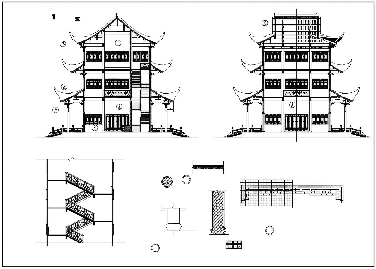 Chinese Architecture CAD Drawings