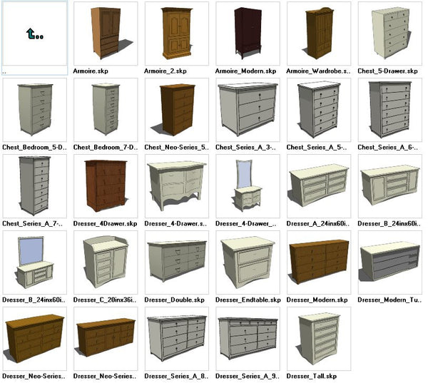 Sketchup Dresser 3D models download