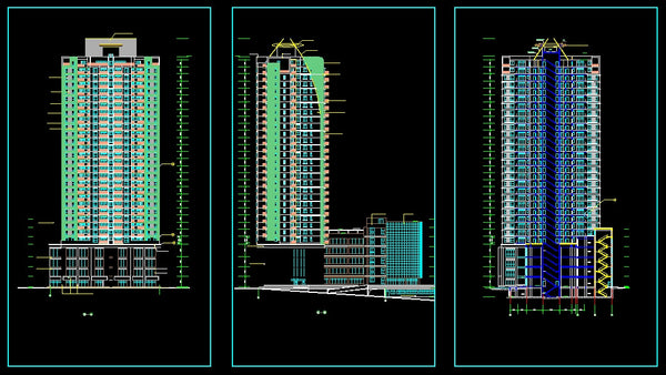 32 Floor Residential Drawings Cad Design Free Cad