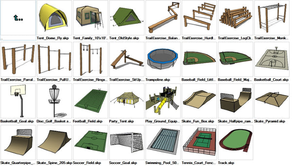Sketchup Recreation 3d Models Download Cad Design Free