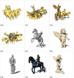 【Sketchup 3D Models】53 Types of Statue Design 3D Models