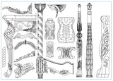 All Architectural decorative blocks V.9 - CAD Design | Download CAD Drawings | AutoCAD Blocks | AutoCAD Symbols | CAD Drawings | Architecture Details│Landscape Details | See more about AutoCAD, Cad Drawing and Architecture Details