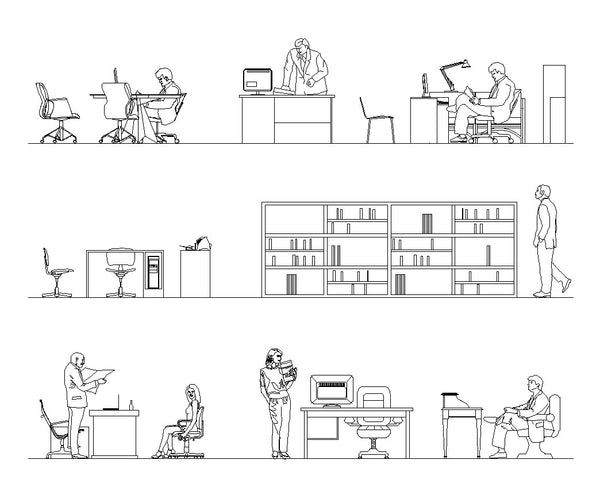 Office blocks and plans