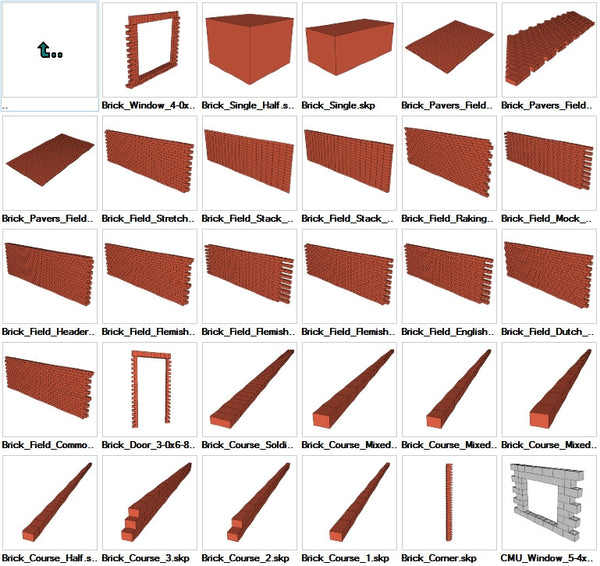 Sketchup Masonry 3D models download - CAD Design | Download CAD Drawings | AutoCAD Blocks | AutoCAD Symbols | CAD Drawings | Architecture Details│Landscape Details | See more about AutoCAD, Cad Drawing and Architecture Details