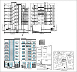 Apartment with commercial building - CAD Design | Download CAD Drawings | AutoCAD Blocks | AutoCAD Symbols | CAD Drawings | Architecture Details│Landscape Details | See more about AutoCAD, Cad Drawing and Architecture Details