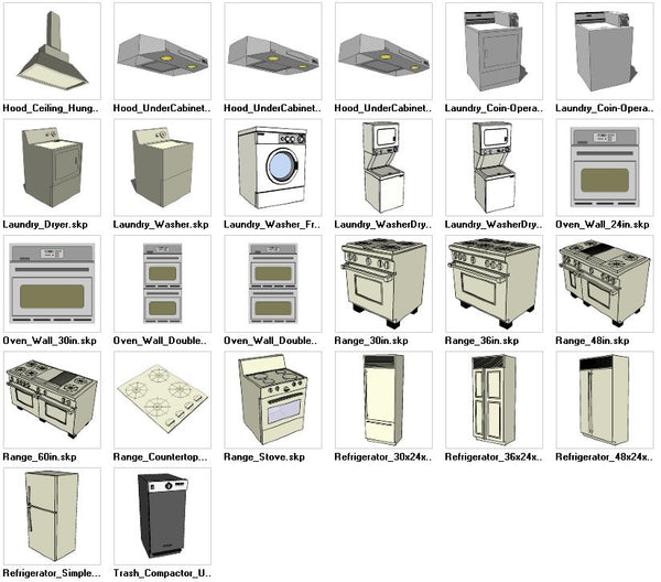 Sketchup appliances 3d models download cad design free for Online cad drawing