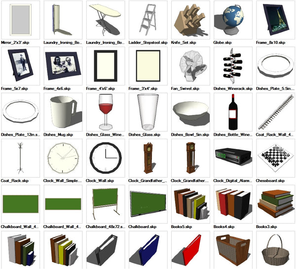 Sketchup Interior Objects 3D models download