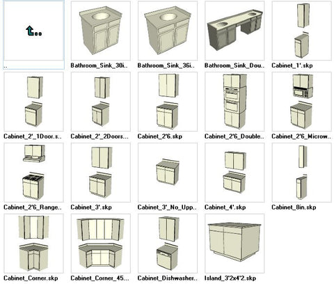●Sketchup Cabinetry 3D models