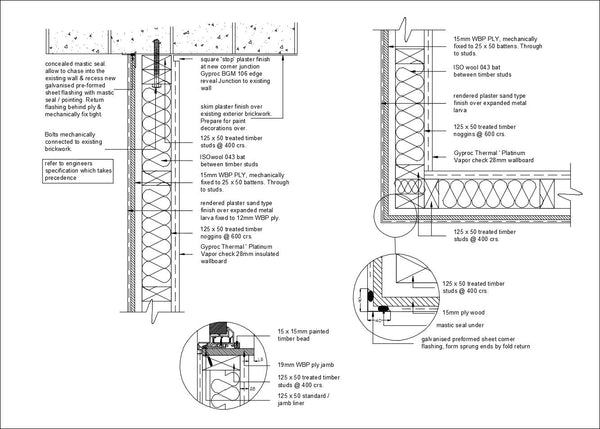 【roof Amp Wall Section Details】 Download Cad Details