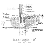 CAD Details Collection-Wall Footing Section - CAD Design | Download CAD Drawings | AutoCAD Blocks | AutoCAD Symbols | CAD Drawings | Architecture Details│Landscape Details | See more about AutoCAD, Cad Drawing and Architecture Details