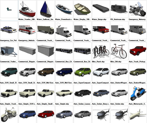 Sketchup Transportation 3D models download