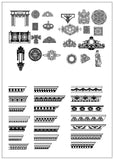 Ornamental Parts of Buildings 4 - CAD Design | Download CAD Drawings | AutoCAD Blocks | AutoCAD Symbols | CAD Drawings | Architecture Details│Landscape Details | See more about AutoCAD, Cad Drawing and Architecture Details