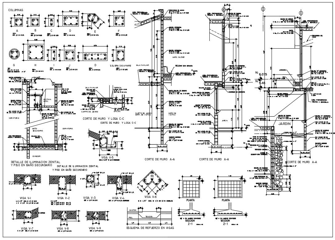 concrete construction details autocad dwg files include various type of steel, structure and rcc detail.