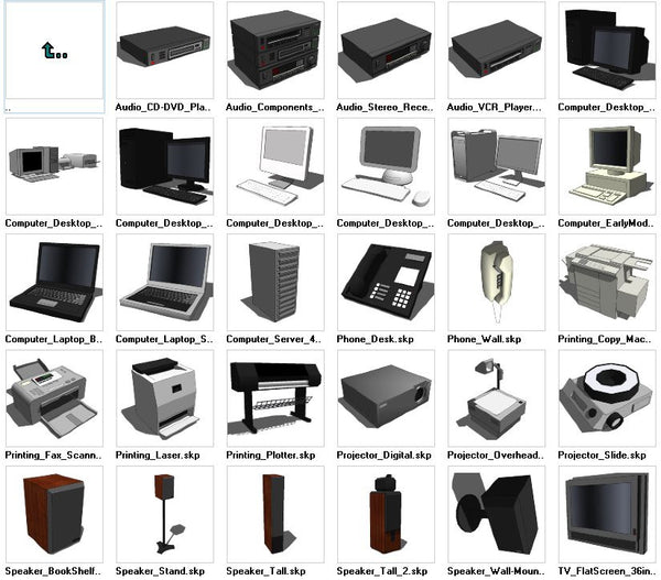 Sketchup Electronic 3D models download