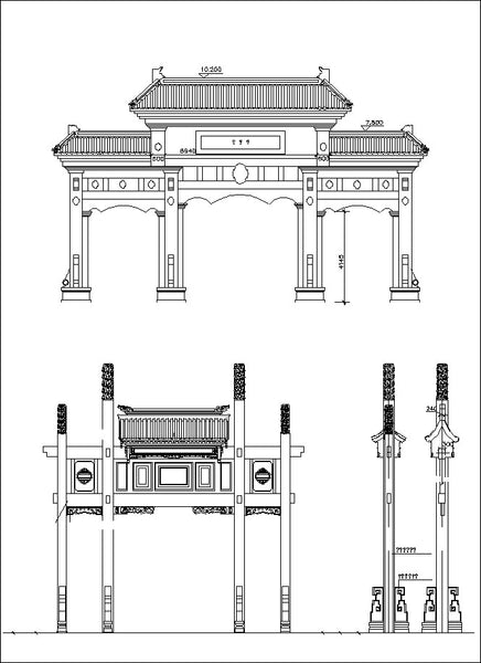 chinese architecture cad design free cad blocks drawings details